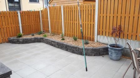 Connemara walling raised beds