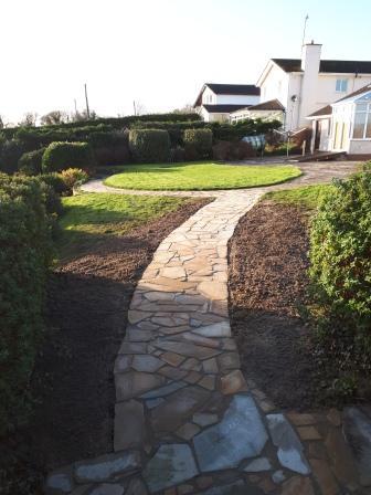 Donegal quartz  Crazy paving path